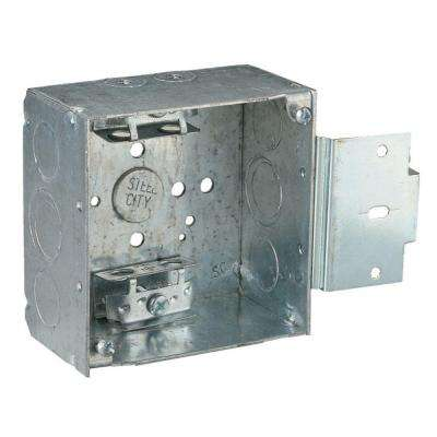 1-Gang 4 in. 30.3 cu. in. New Work Pre-Galvanized Metal Square Electrical Box (Case of 25)