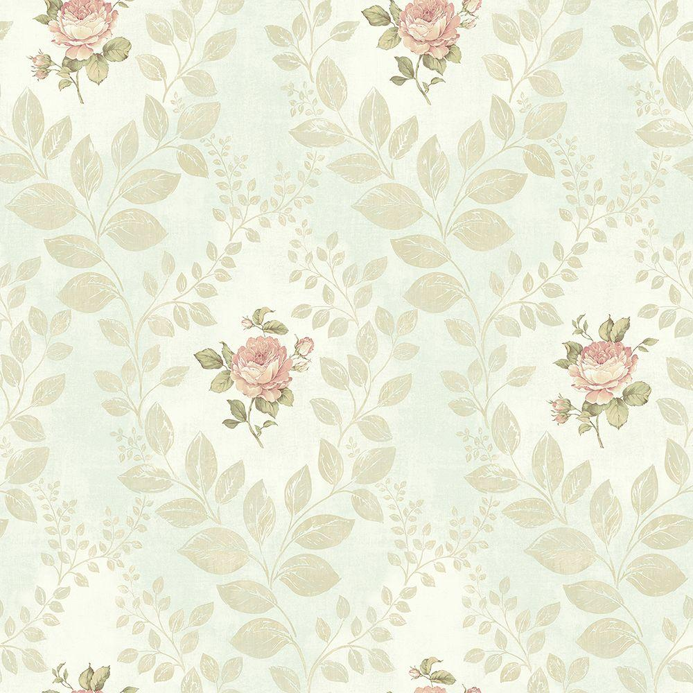 Chesapeake Darby Rose Mint Cameo Wallpaper Ccb02163 The Home Depot