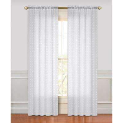 White floral sheer curtains drapes window treatments the cut flower 84 in linen look with 3d flowers rod pocket in white mightylinksfo
