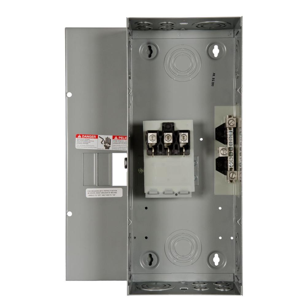 Eaton Br 125 Amp 12 Space 24 Circuit Indoormain Lug Loadcenter With Electrical Breaker Panel Box As Well Ring Main 100 3 Enclosure