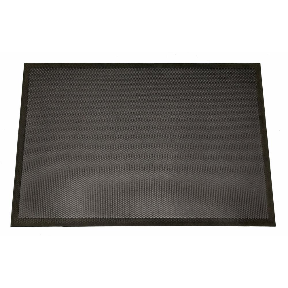 Professional Comfort Black 24 in. x 36 in. Anti Fatigue Mat
