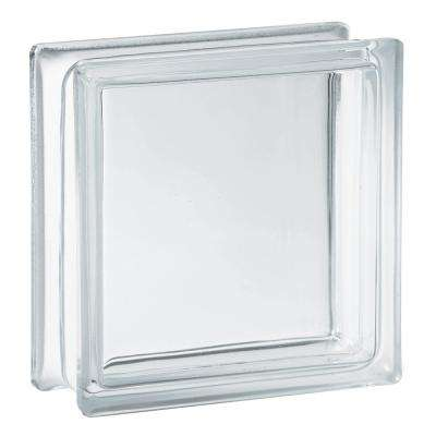 7.75 in. x 7.75 in. x 3.875 in. Clarity Pattern Glass Block (8-Pack)
