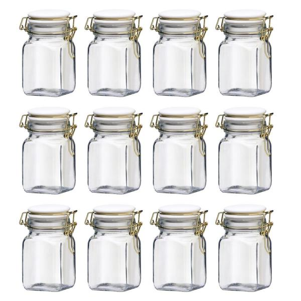 Amici Home Chloe 10 oz. 12-Piece Glass Hermetic Mini Canister Set