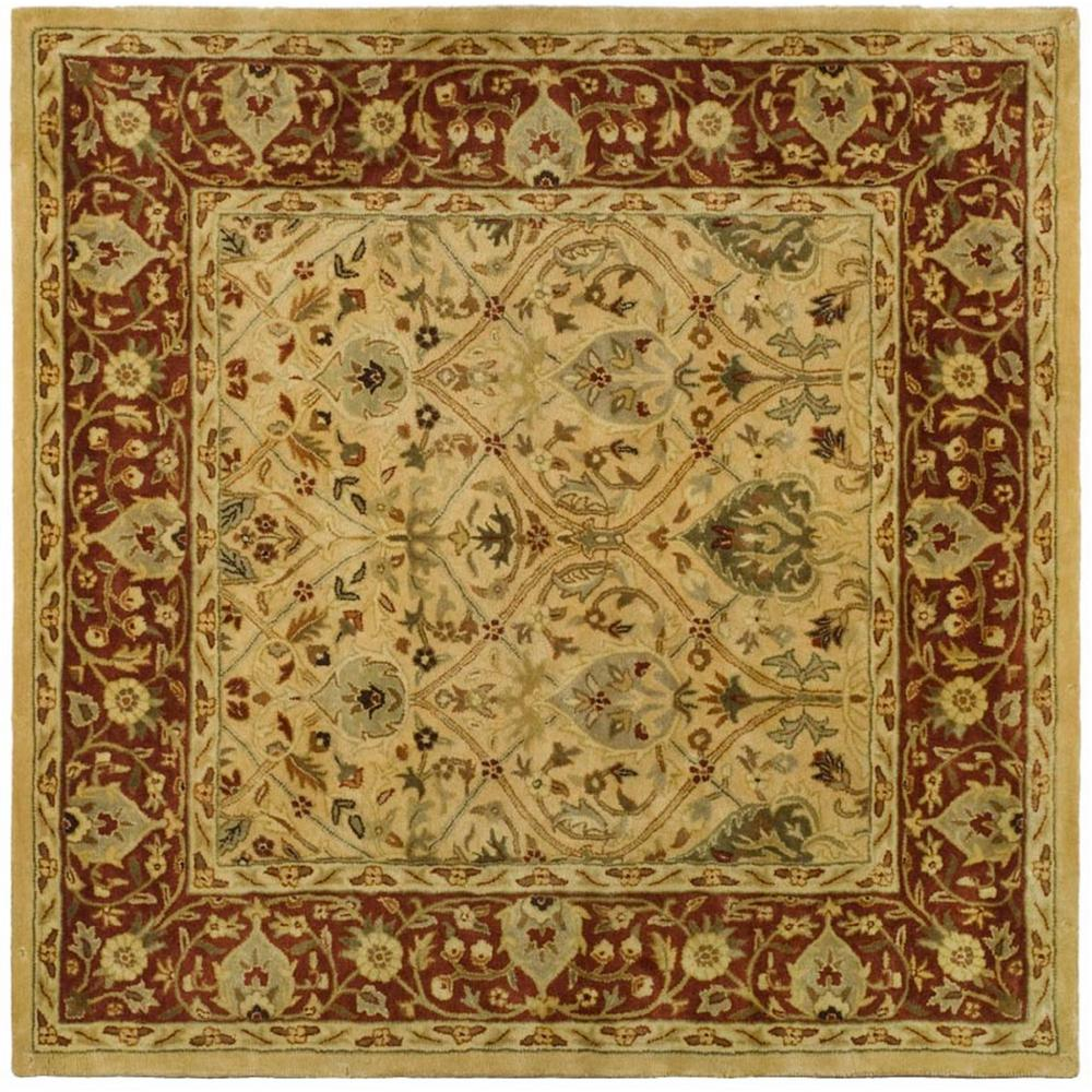 Persian Legend Ivory/Rust 8 ft. x 8 ft. Square Area Rug