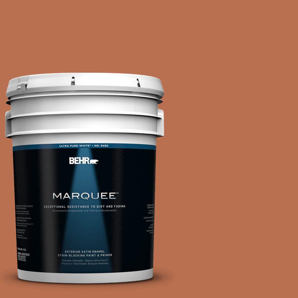 BEHR MARQUEE 5-gal. #230D-6 Iced Tea Satin Enamel Exterior Paint