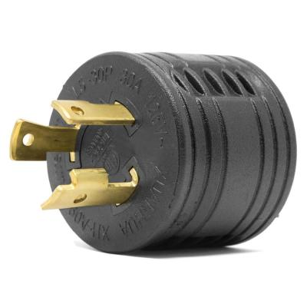 120-Volt 30 Amp 3600-Watt Generator to RV Adapter, NEMA L5-30P Twist-Lock Power Plug to TT-30R RV-Ready Outlet