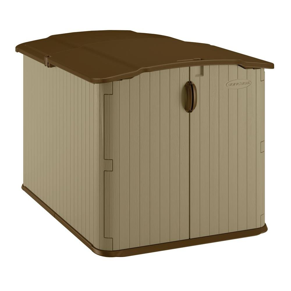 Store SKU #364345  sc 1 st  The Home Depot & Suncast Glidetop 6 ft. 8 in. x 4 ft. 10 in. Resin Storage Shed ...