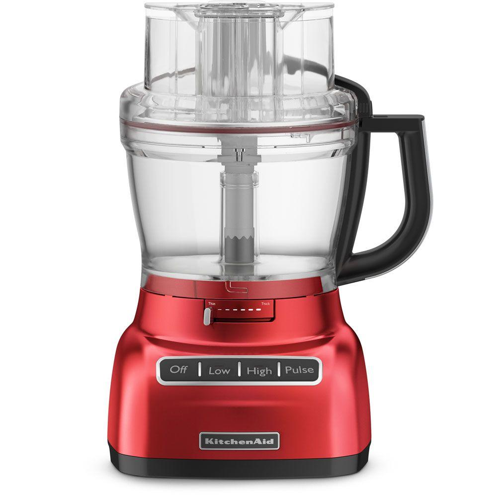 KitchenAid 13-Cup Food Processor with Mini Bowl in Empire Red