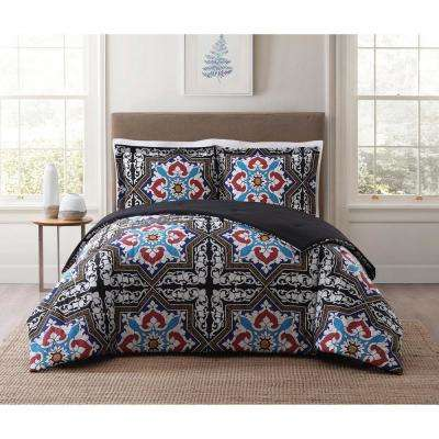 Sheffield Blue Multi Full and Queen XL Comforter Set