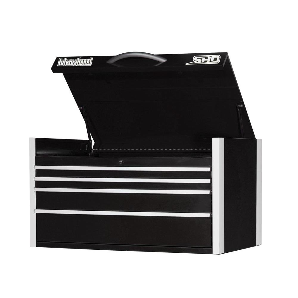 SHD Series 42 in. 4-Drawer Top Chest, Black