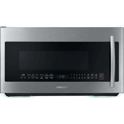 30 in W 2.1 cu. ft. Over the Range PowerGrill Microwave with Sensor Cook in Fingerprint Resistant Stainless Steel