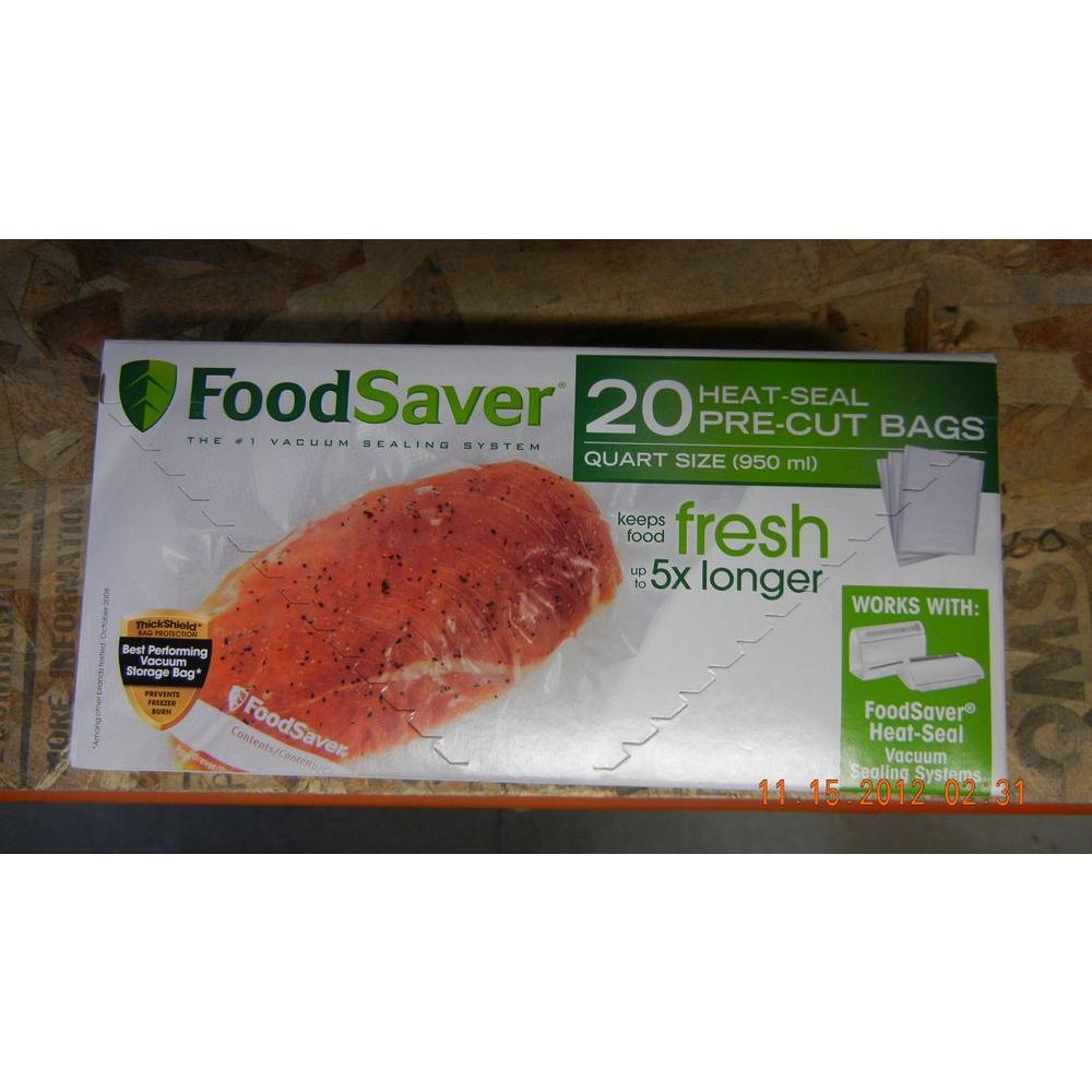 Jarden Foodsaver Vacuum Sealer Bag Set Of 20