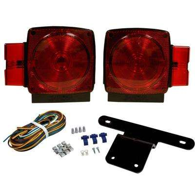 Trailer Lamp Kit 5-1/4 in. Stop/Tail/Turn Submersible Square Lights for Under and Over 80 in. Applications