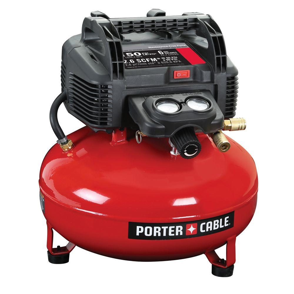 porter cable 6 gal 150 psi portable electric pancake air compressor rh homedepot com Porter Cable Sander Porter Cable Router