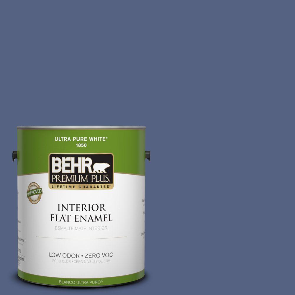 BEHR Premium Plus 1-gal. #610D-6 Enduring Zero VOC Flat Enamel Interior Paint-DISCONTINUED