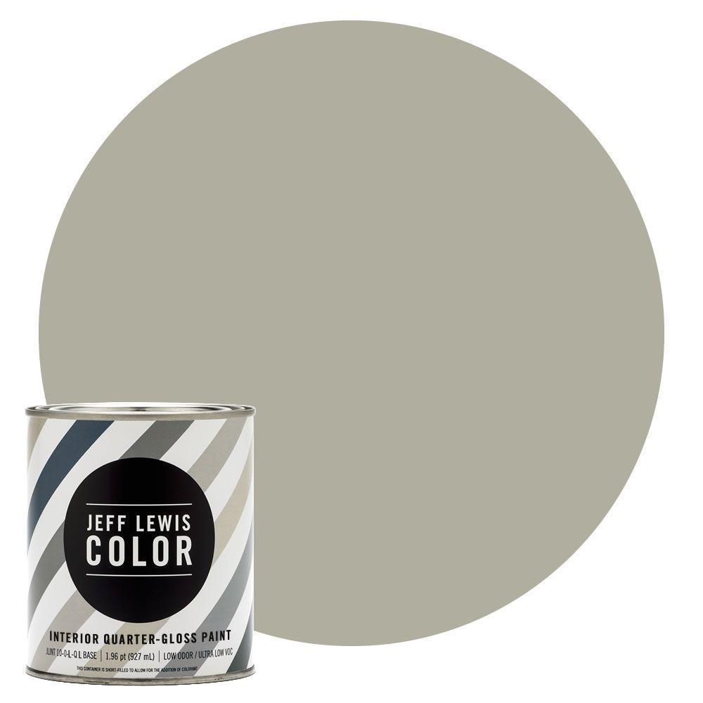 Jeff Lewis Color 1-qt. #JLC213 Dune Quarter-Gloss Ultra-Low VOC Interior Paint
