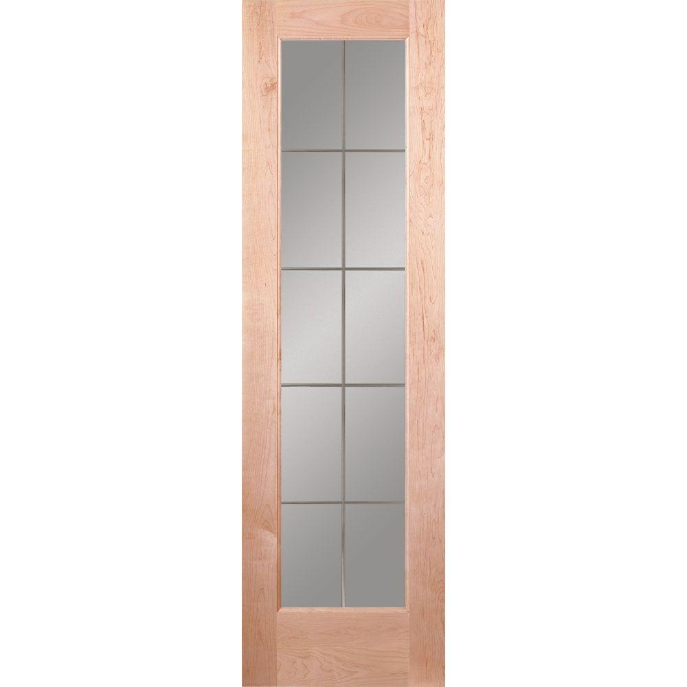 Feather River Doors 24 In. X 80 In. 10 Lite Illusions Woodgrain Unfinished  Maple