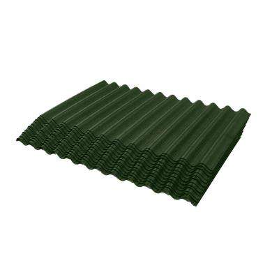4.25 ft. Jumbo Shingle Green Corrugated Shingle Asphalt Roof Panel 75 sq. ft. per Bundle
