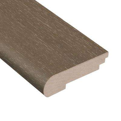 Wire Brushed Hickory Grey 3/8 in. Thick x 3-1/2 in. Wide x 78 in. Length Hardwood Stair Nose Molding