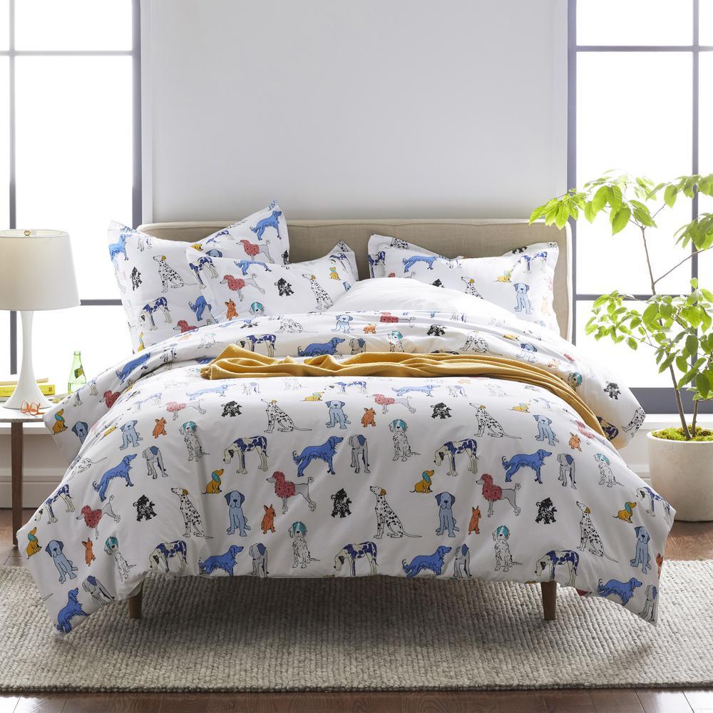 Company Cotton™ Dog Talk Multicolored Graphic Duvet Cover Set