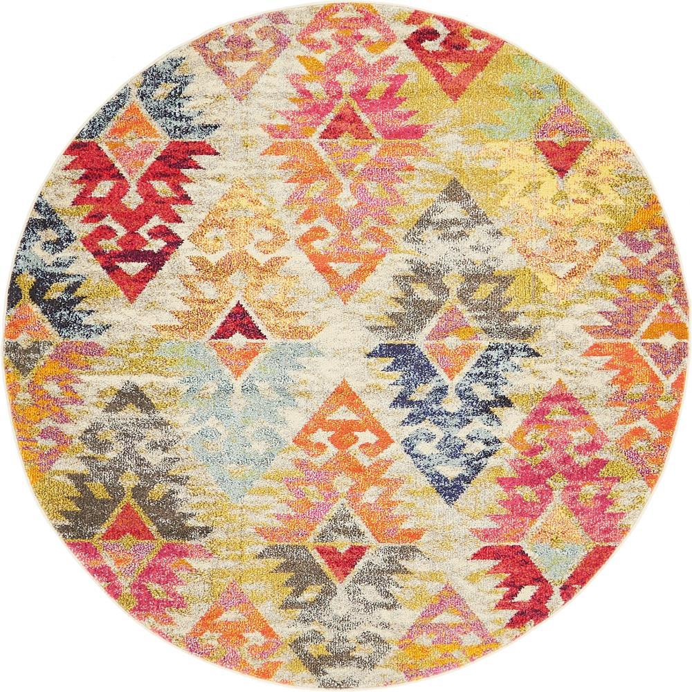 Sedona Multi 6 ft. x 6 ft. Round Area Rug