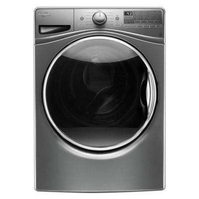 4.2 cu. ft. Front Load Washer with Load & Go in Chrome Shadow, 12 Cycles