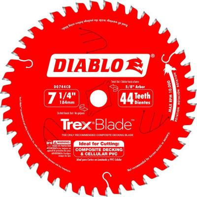 7-1/4 in. x 44-Tooth Trex/Composite Material Cutting Saw Blade