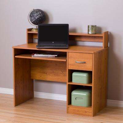 Axess Country Pine Desk with Shelving