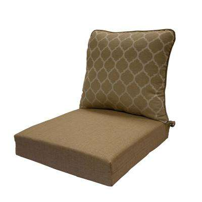 Toffee Trellis Deep Seating Outdoor Lounge Chair Cushion