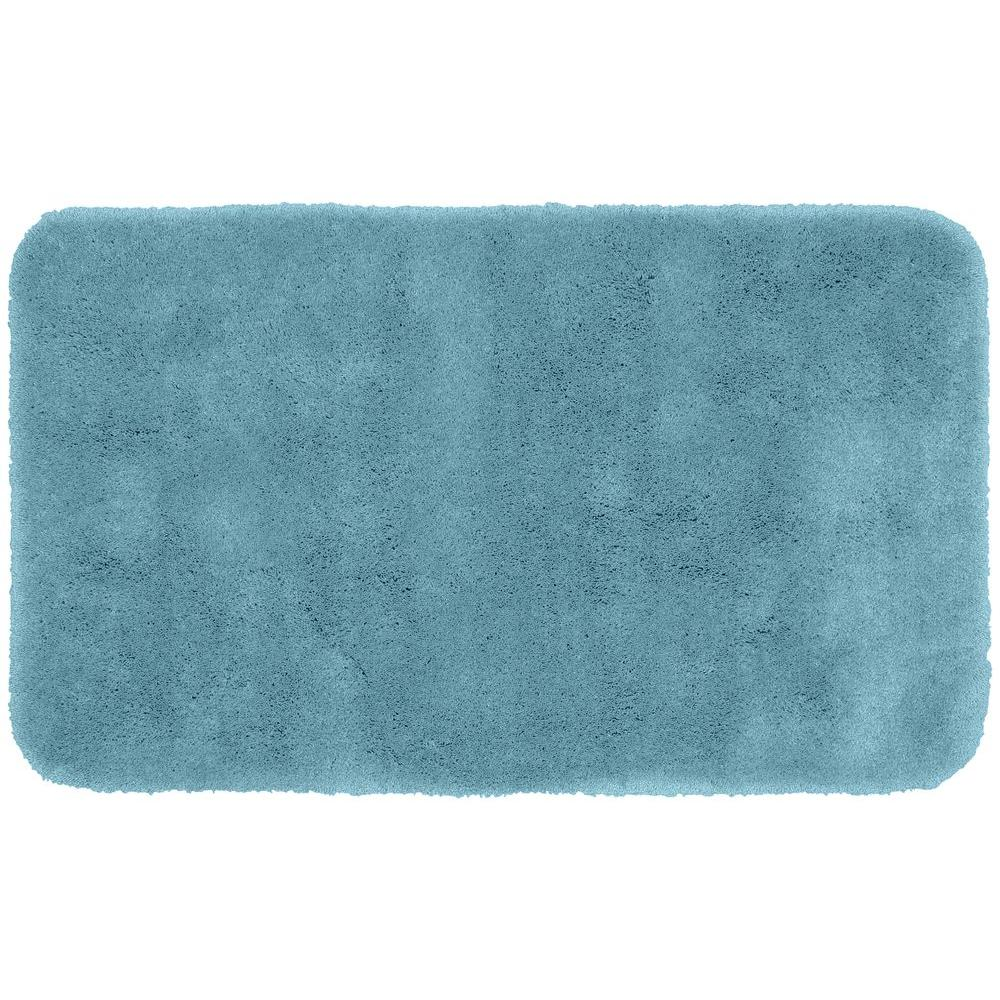 Washable Rugs Home Depot: Garland Rug Finest Luxury Basin Blue 30 In. X 50 In