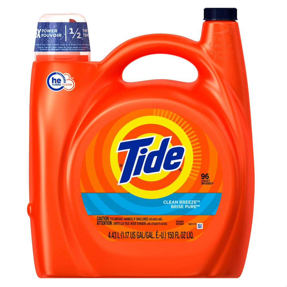 Tide 150 oz. Clean Breeze HE Liquid Laundry Detergent (96-Loads)
