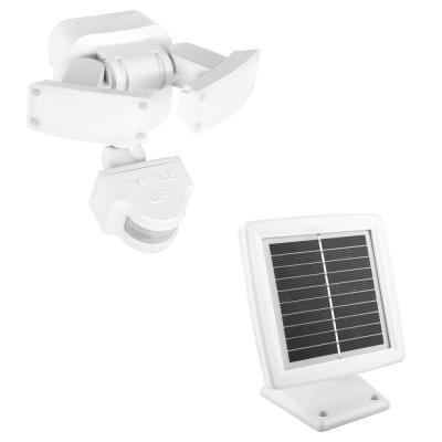 500 Lumens 180-Degree White Solar Powered Motion Activated Outdoor Integrated LED Flood Light