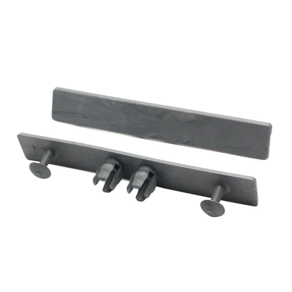 NewTechWood Deck-A-Floor Premium Westminster Gray End Cap for Deck-A-Floor (8-Pieces/Box)