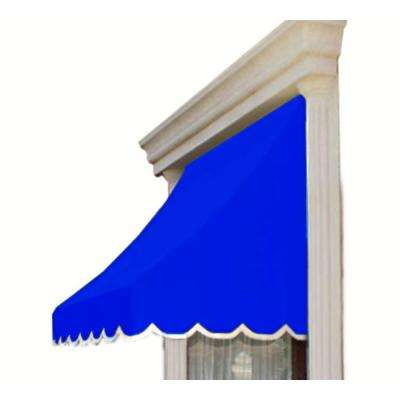 3 ft. Nantucket Fabric Window Awning (31 in. H x 24 in. D) in Bright Blue