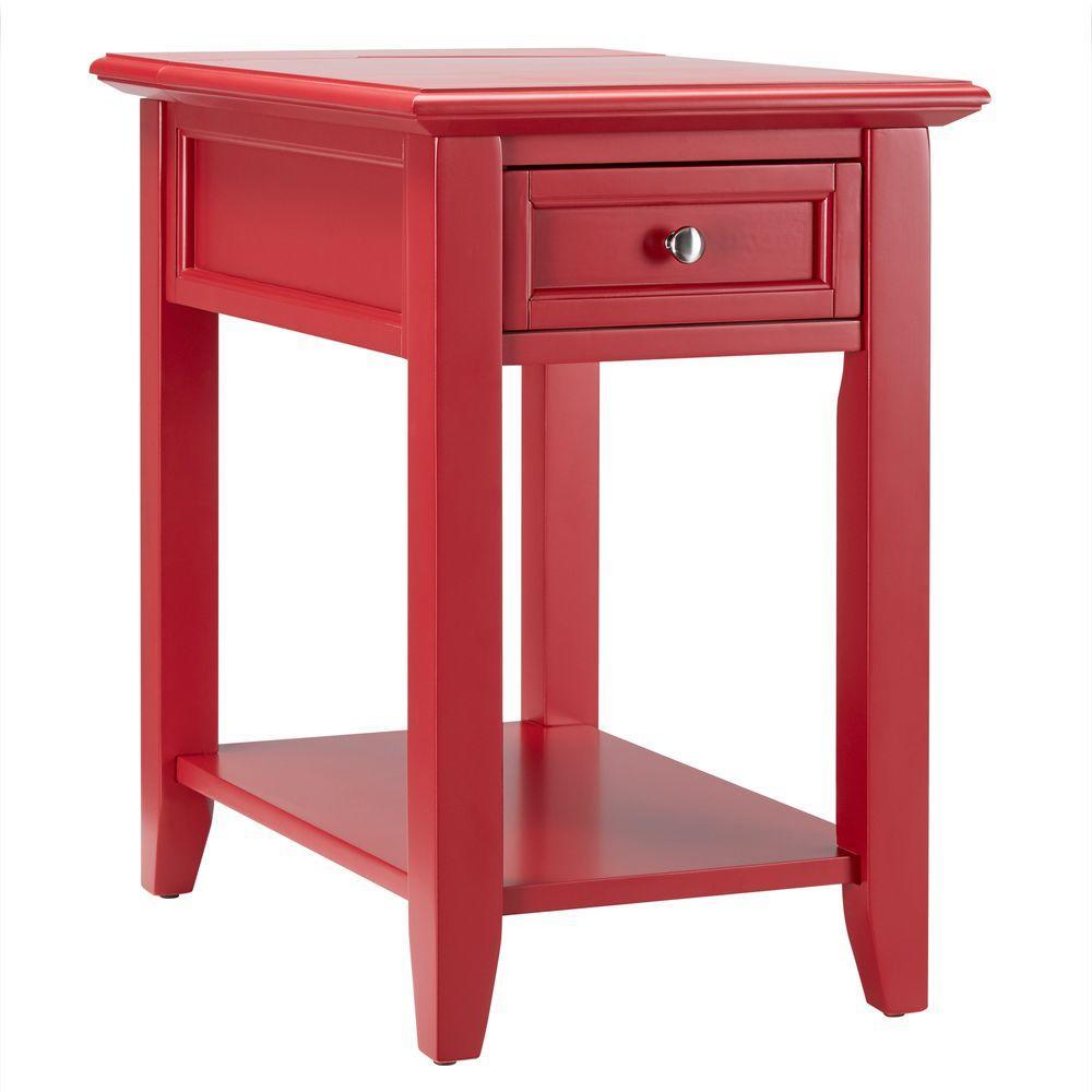 Super Homesullivan Harrison Red Side Table 40E720A R The Home Depot Short Links Chair Design For Home Short Linksinfo