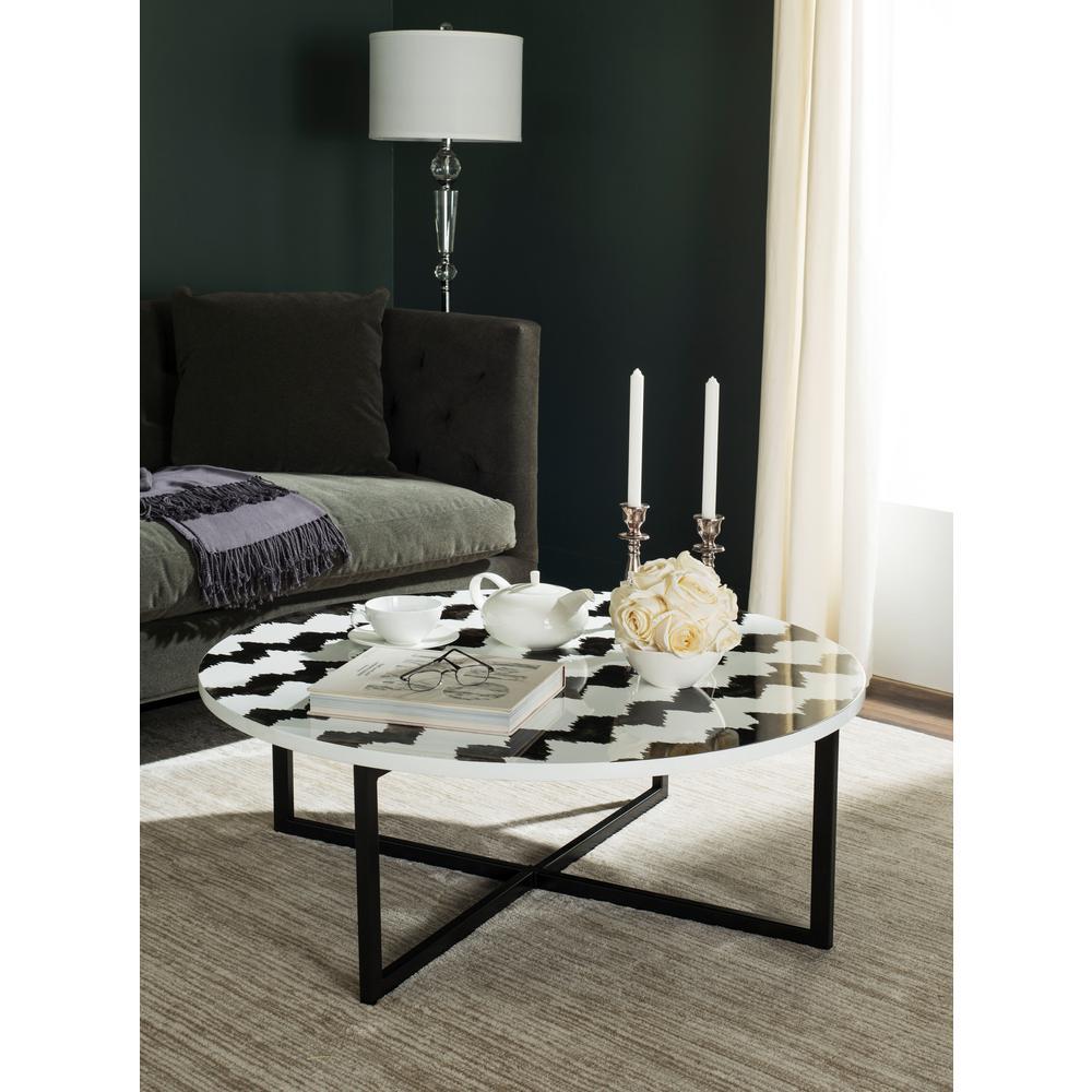 Safavieh Cheyenne Black White Coffee Table
