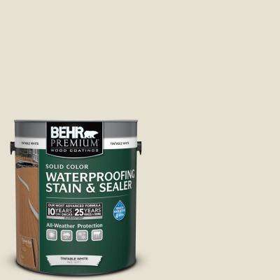 1 gal. #73 Off White Solid Color Waterproofing Exterior Wood Stain and Sealer