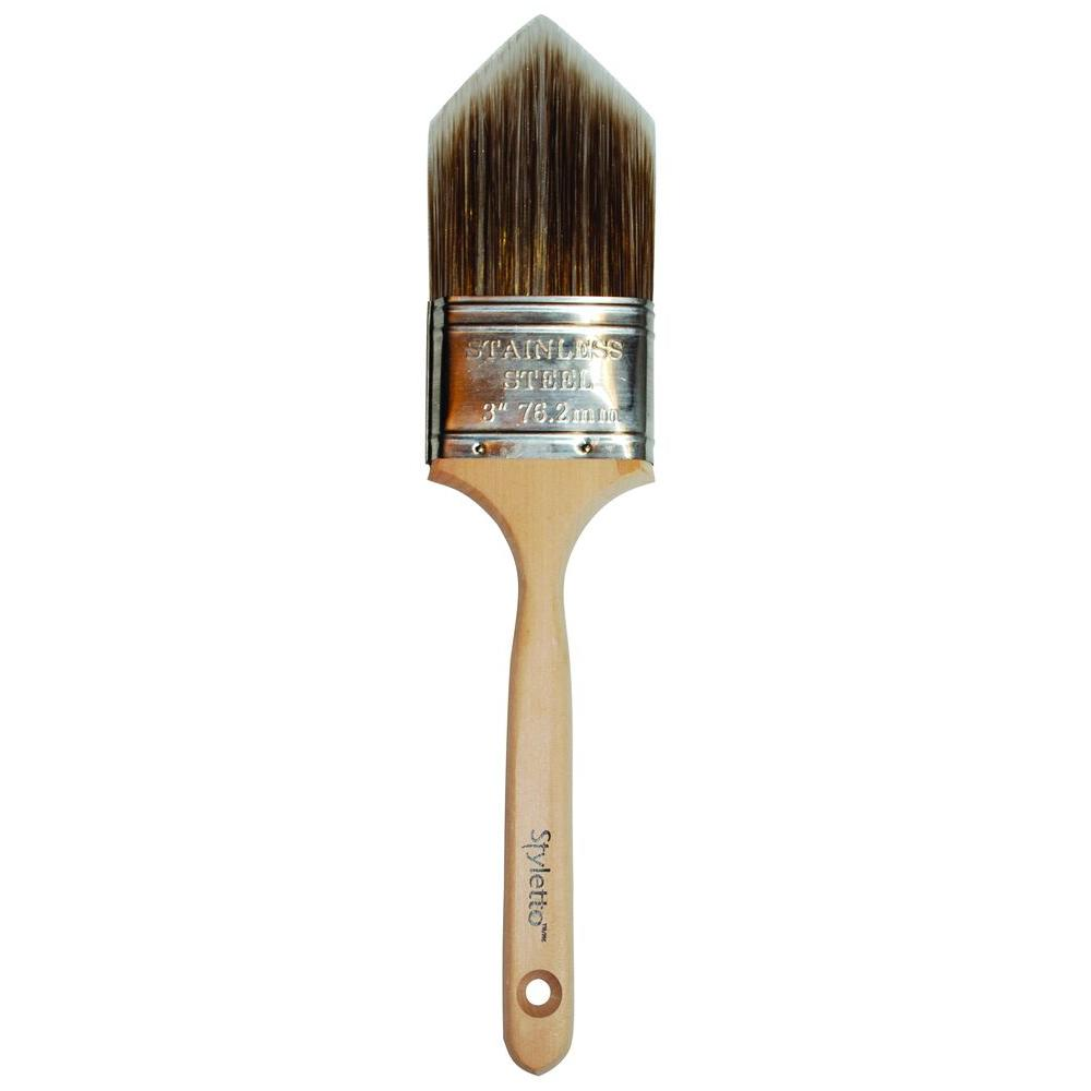 Styletto 3 in. Trimming and Edging Paint Brush