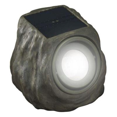 Solar Powered Green Rock Outdoor Spot Light