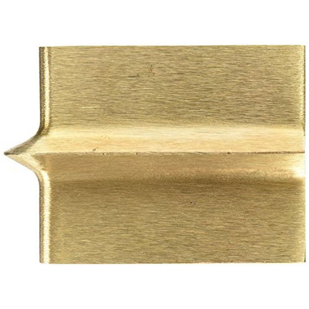 6 in. x 4-1/2 in. 3/8 in. R 3/4 in. D Bronze Walking Groover