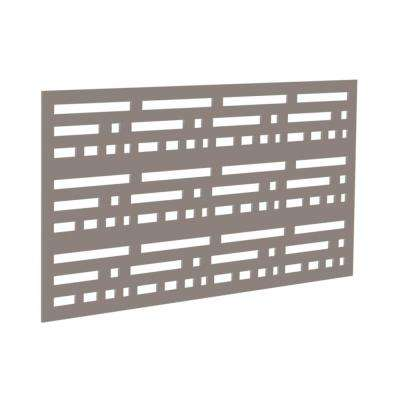 4 ft. x 2 ft. Greige Morse Polymer Decorative Screen Panel