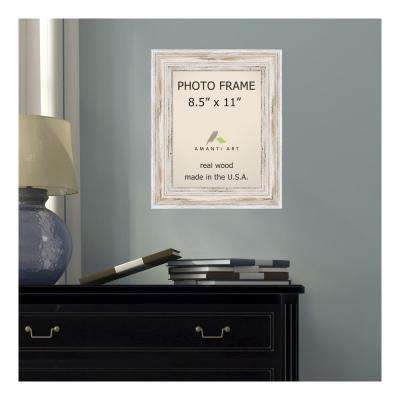 Alexandria 8.5 in. x 11 in. Whitewash Picture Frame