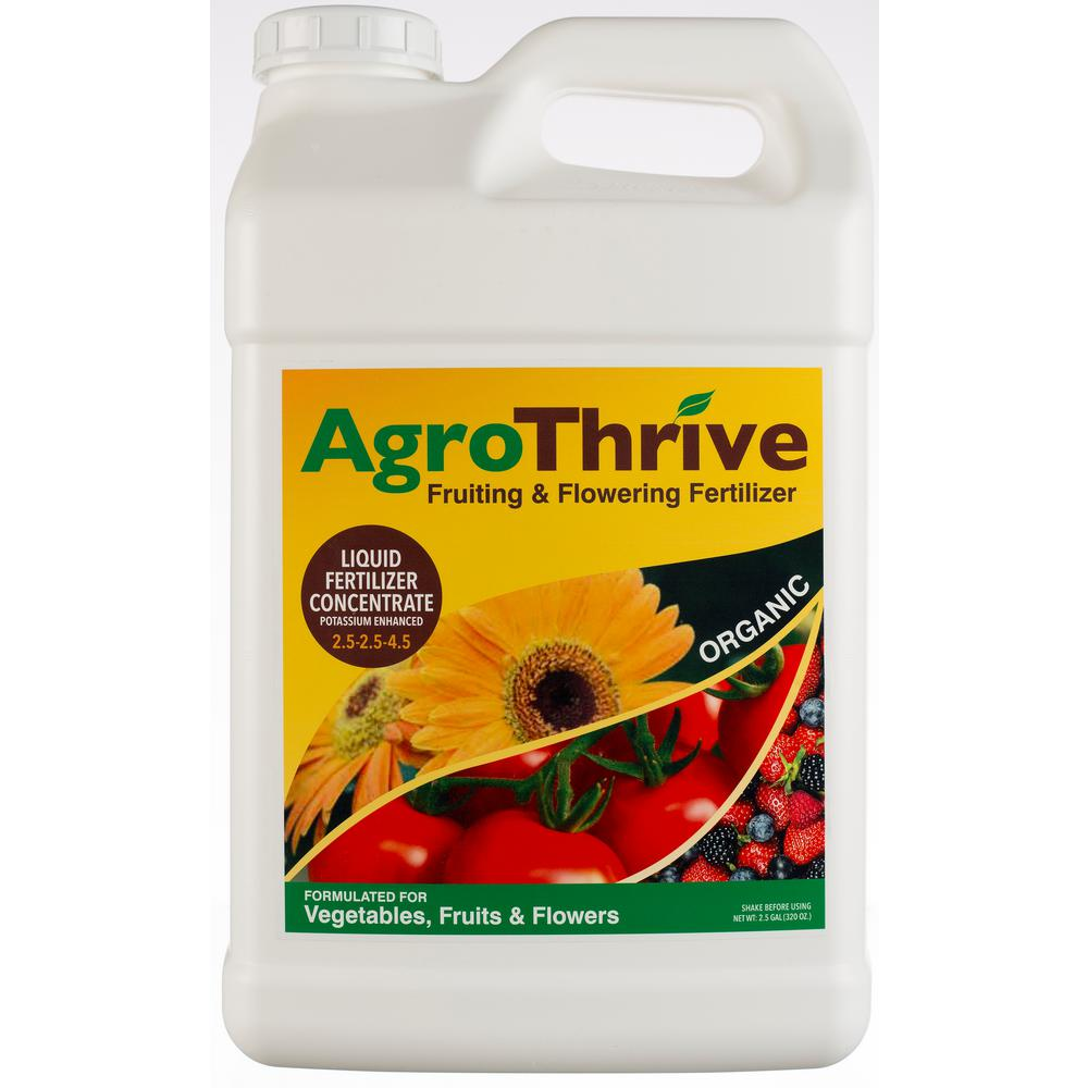 AgroThrive 2.5 Gal. Fruiting and Flowering Organic Liquid Fertilizer