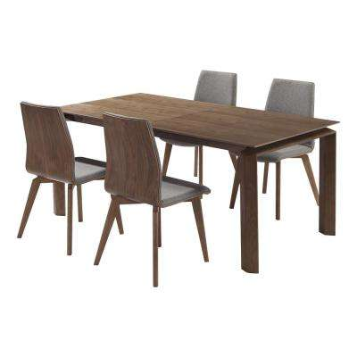 Treviso 5-Piece Walnut Dining Set