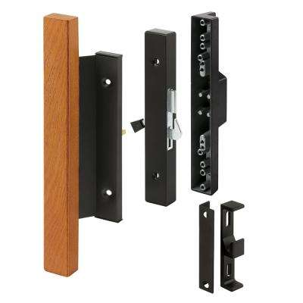 Sliding Glass Door Handle, Wood Pull, Surface Hook, Black