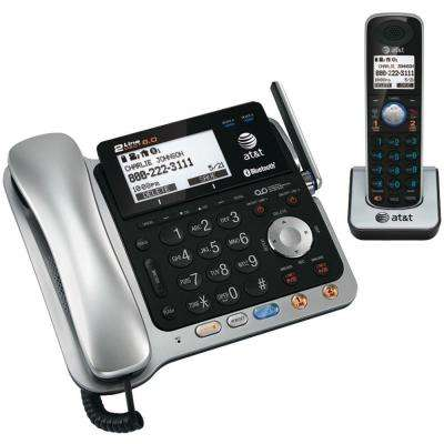 DECT 6.0 2-Line Corded/Cordless Bluetooth Phone System