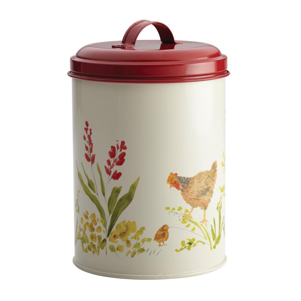 Paula Deen 3 Piece Food Storage Canister Set In Garden Rooster 46595