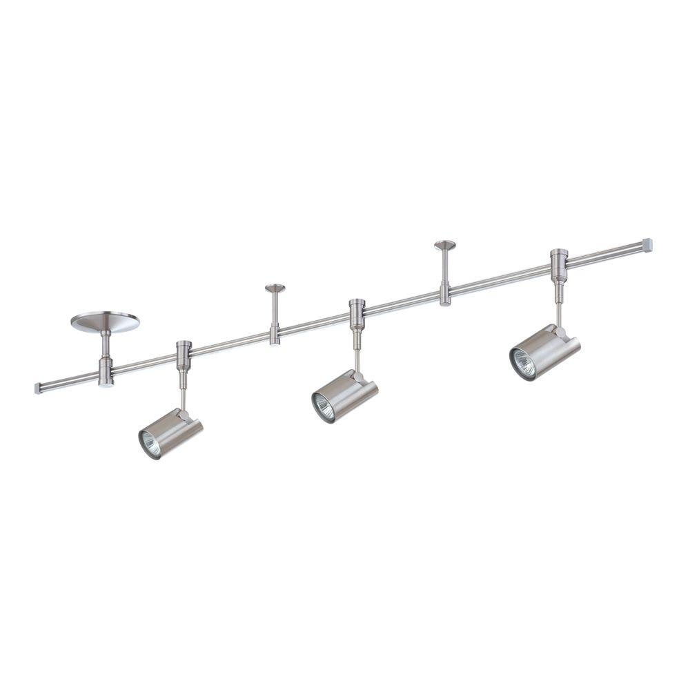 RK35 Series 4 ft. 3-Light Satin Nickel Track Lighting Kit