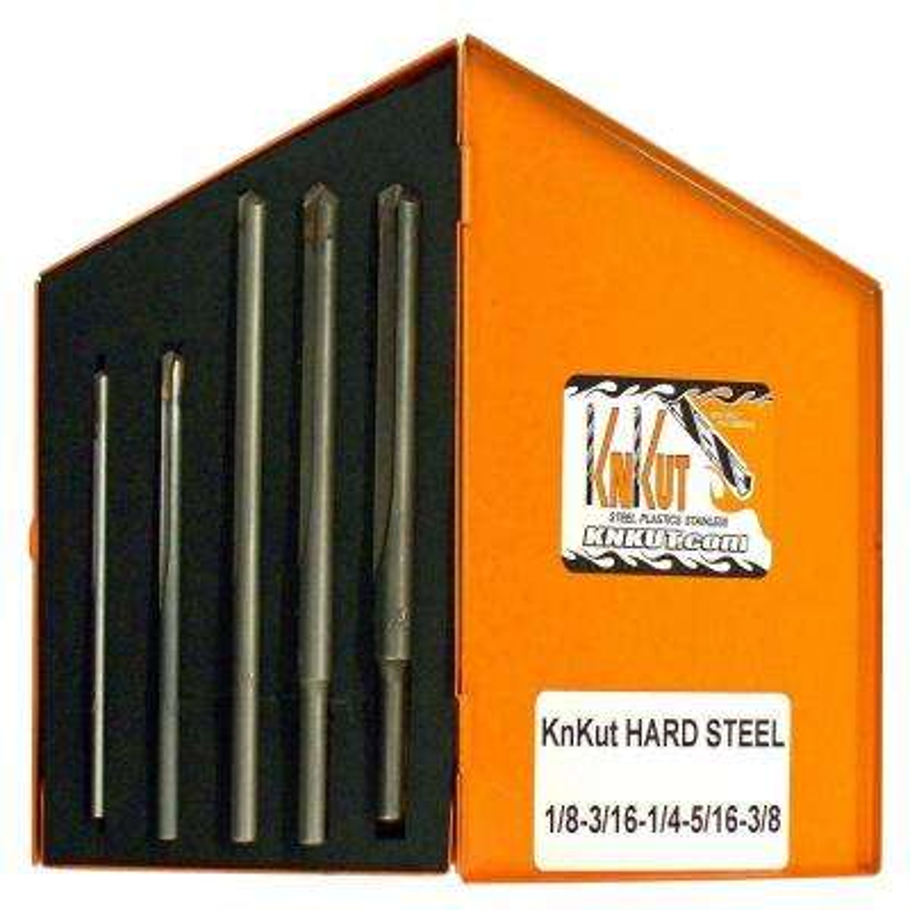 Carbide Tipped Hard Steel Drill Bit Set (5-Piece)
