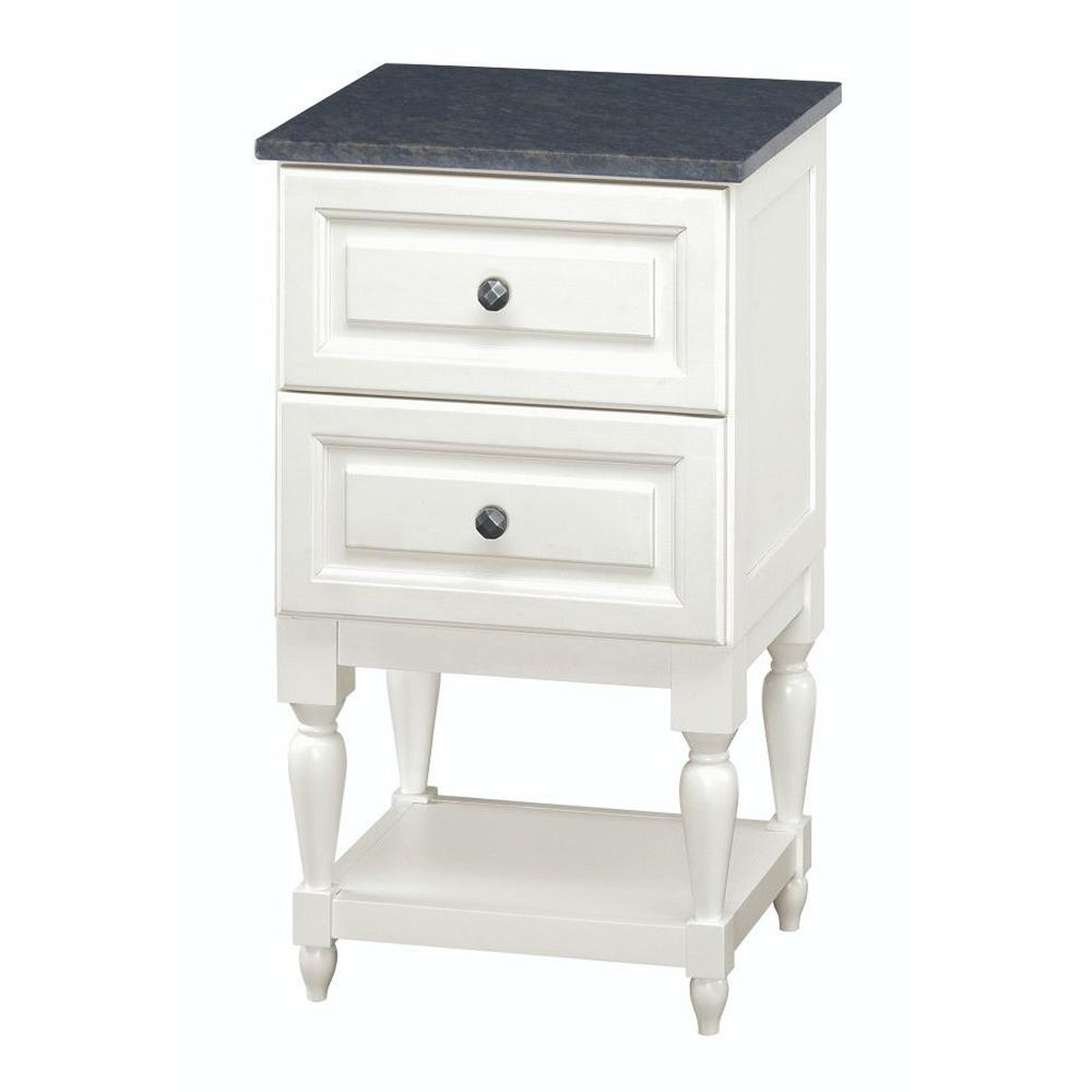 Emberson 19 in. Bath Vanity Linen Cabinet in White with Granite